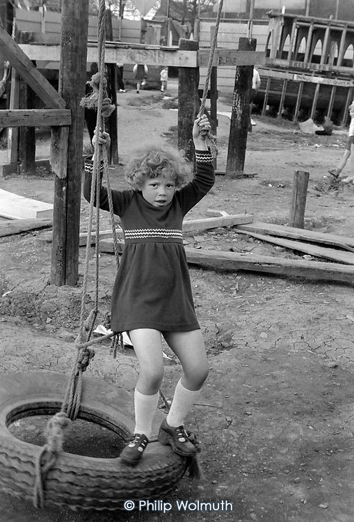 Horniman's Adventure Playground, North Kensington, 1975.