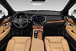 Stock photo of straight dashboard view of a 2018 Volvo XC90 T8 Twin Engine Plug-in Inscription 5 Door SUV
