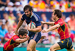 France play Spain in the Shield Semi-Final on Day 3 of the Cathay Pacific / HSBC Hong Kong Sevens 2013 on 24 March 2013 at Hong Kong Stadium, Hong Kong. Photo by Aitor Alcalde / The Power of Sport Images