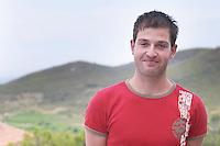 Paval Banicevic, the new generation winemaker, son of Frano Banicevic. Toreta Vinarija Winery in Smokvica village on Korcula island. Vinarija Toreta Winery, Smokvica town. Peljesac peninsula. Dalmatian Coast, Croatia, Europe.