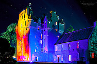 Crathes Castle is bewitched during the Enchanted Castle son et lumiere event.<br /> Bill Bagshaw
