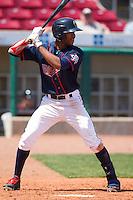 Cedar Rapids Kernels outfielder Byron Buxton #7 bats during a game against the Lansing Lugnuts at Veterans Memorial Stadium on April 30, 2013 in Cedar Rapids, Iowa. (Brace Hemmelgarn/Four Seam Images)