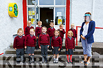 Ten new Juniors started school in St Finians NS Waterville on Tuesday were front l-r; Millie Fogarty, Holly Hassell, Grace Fitzgerald, Jenna Shanahan, Amelia Court, back l-r; Mathew Galvin, Jan Gwis, James O'Shea, J.J.O'Carroll & Oliver O'Sullivan with their teacher Miriam Lyne.