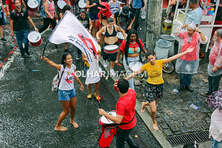 Dia Nacional de Greve. Ato organizado pelas centrais sindicais e movimentos sociais contra a PEC 55, contra a reforma da previdência e do ensino medio. Praça da Se, Sao Paulo. 2016. Foto de Lineu Kohatsu.