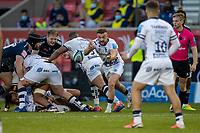 28th May 2021; AJ Bell Stadium, Salford, Lancashire, England; English Premiership Rugby, Sale Sharks versus Bristol Bears; Andy Uren of Bristol Bears passes the ball