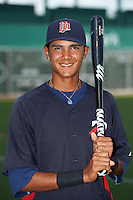 GCL Twins shortstop Nelson Molina (2) poses for a photo after a game against the GCL Red Sox on July 19, 2013 at JetBlue Park at Fenway South in Fort Myers, Florida.  GCL Red Sox defeated the GCL Twins 4-2.  (Mike Janes/Four Seam Images)