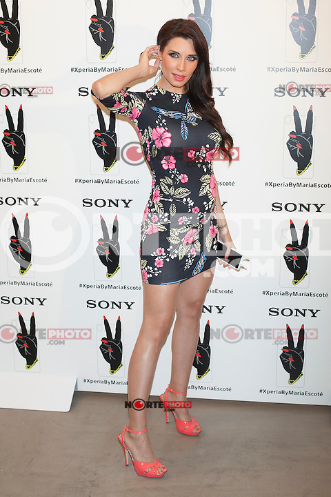 Pilar Rubio poses during a Sony Xperia event in Madrid, Spain. July 13, 2015. (ALTERPHOTOS/Victor Blanco)