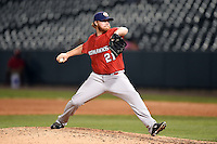Oklahoma City RedHawks pitcher Jason Stoffel (21) delivers a pitch during a game against the Memphis Redbirds on May 23, 2014 at AutoZone Park in Memphis, Tennessee.  Oklahoma City defeated Memphis 12-10.  (Mike Janes/Four Seam Images)