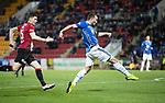 St Johnstone v St Mirren….27.03.19   McDiarmid Park   SPFL<br />Chris Kane scores fro saints<br />Picture by Graeme Hart. <br />Copyright Perthshire Picture Agency<br />Tel: 01738 623350  Mobile: 07990 594431