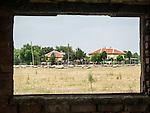 Abandoned building and landscape, Village of Slavotin, Bulgaria