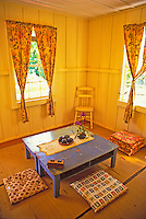 Hawaii's Plantation village offers visitors a look back at life on the early 1900's sugar plantations. Photo of interior of Japanese house at the village.