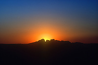The Olgas at sunset, Uluru National Park, Central Australia, Northern Territory