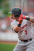 Altoona Curve Bligh Madris (7) at bat during an Eastern League game against the Erie SeaWolves on June 5, 2019 at UPMC Park in Erie, Pennsylvania.  Altoona defeated Erie 6-2.  (Mike Janes/Four Seam Images)