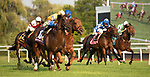 ARLINGTON HEIGHTS, IL - AUGUST 11: #10, Robert Bruce, the Chilean bred 4 year old Trained by Chad Brown and ridden by Jockey Irad Ortiz Jr., earned his spot in The Breeders Cup Longines Turf after winning the $1,000,000 Grade I Arlington Million at Arlington Park on August 11, 2018 in Arlington Heights, Illinois. (Photo by Carson Dennis/Eclipse Sportswire/Getty Images)
