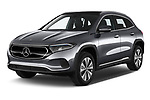 2021 Mercedes Benz EQA 250-Business 5 Door SUV Angular Front automotive stock photos of front three quarter view