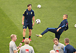Swedish national team during trainings session at Maksimir Stadium before UEFA Nations League 2020-21 match with Croatia in Zagreb, Croatia on October 10, 2020. <br /> <br /> <br /> Training Ludwig Augustinsson (Werder Bremen #05) am Ball<br /> Foto © nordphoto / Marko Prpic/PIXSELL
