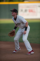 Visalia Rawhide first baseman Pavin Smith (6) during a California League game against the Stockton Ports at Visalia Recreation Ballpark on May 8, 2018 in Visalia, California. Stockton defeated Visalia 6-2. (Zachary Lucy/Four Seam Images)