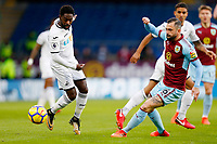Nathan Dyer of Swansea City and Steven Defour of Burnley during the Premier League match between Burnley and Swansea City at Turf Moor, Burnley, England, UK. Saturday 18 November 2017