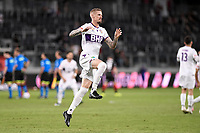 19th March 2021; Bankwest Stadium, Parramatta, New South Wales, Australia; A League Football, Western Sydney Wanderers versus Perth Glory; Andy Keogh of Perth Glory warms up before kick off