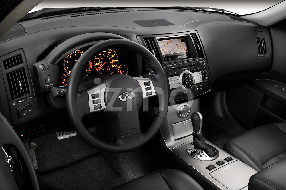High angle dashboard view of a 2008 Infiniti FX35 SUV
