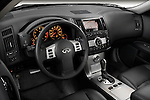High angle dashboard view of a 2008 Infiniti FX35 SUV