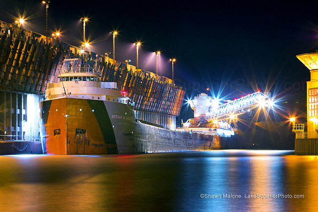 The Freighter Arthur M. Anderson at Marquette Upper Harbor Ore Dock