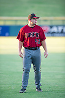 AZL Diamondbacks Buddy Kennedy (43) warms up in the outfield prior to the game against the AZL Cubs on August 11, 2017 at Sloan Park in Mesa, Arizona. AZL Cubs defeated the AZL Diamondbacks 7-3. (Zachary Lucy/Four Seam Images)