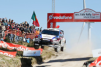 Nasser Al-Attiyah (QAT) and Giovanni Bernacchini (ITA), Ford Fiesta RS WRC of QATAR M-SPORT WORLD RALY TEAM during WRC Fafe Rally Sprint 2013, in Fafe, Portugal on April 6, 2013 (Photo Credits: Paulo Oliveira/DPI/NortePhoto)