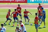 Spain's Jordi Alba, Hector Bellerin, Yerai Alvarez, Gerard Deulofeu, Thiago Alcantara and Gerard Pique during training session. June 5,2017.(ALTERPHOTOS/Acero)