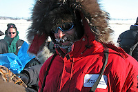 Lance Mackey arrives at Unalakleet. Photo by Jon Little.