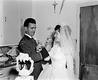Mariage catholique Dufour - Noel, 14 Juillet 1967, Quebec.<br /> <br /> PHOTO : Agence Quebec Presse