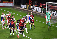 15th September 2020; Vitality Stadium, Bournemouth, Dorset, England; English Football League Cup, Carabao Cup Football, Bournemouth Athletic versus Crystal Palace; the header from Jack Simpson of Bournemouth goes wide from a corner kick