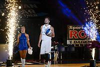GRONINGEN - Basketbal , Open Dag met Donar - Antwerp Giants , voorbereiding seizoen 2021-2022, 05-09-2021, presentatie Donar speler Willem Brandwijk