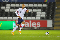 12th November 2020; Liberty Stadium, Swansea, Glamorgan, Wales; International Football Friendly; Wales versus United States of America; John Brooks of USA brings the ball forward