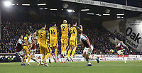 Burnley's Robbie Brady directs his second half free-kick straight into the Brighton & Hove Albion wall <br /> <br /> Photographer Rich Linley/CameraSport<br /> <br /> The Premier League - Burnley v Brighton and Hove Albion - Saturday 8th December 2018 - Turf Moor - Burnley<br /> <br /> World Copyright © 2018 CameraSport. All rights reserved. 43 Linden Ave. Countesthorpe. Leicester. England. LE8 5PG - Tel: +44 (0) 116 277 4147 - admin@camerasport.com - www.camerasport.com