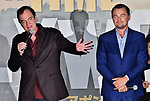 "Director Quentin Tarantino(L) and actor Leonardo DiCaprio attend the Japan premiere for ""Once upon a time in Hollywood"" at the Tokyo Midtown Hibiya in Tokyo, Japan on August 26, 2019. (Photo by AFLO)"