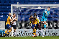 Bolton Wanderers' Billy Crellin punches clear <br /> <br /> Photographer Andrew Kearns/CameraSport<br /> <br /> The EFL Sky Bet League Two - Bolton Wanderers v Mansfield Town - Tuesday 3rd November 2020 - University of Bolton Stadium - Bolton<br /> <br /> World Copyright © 2020 CameraSport. All rights reserved. 43 Linden Ave. Countesthorpe. Leicester. England. LE8 5PG - Tel: +44 (0) 116 277 4147 - admin@camerasport.com - www.camerasport.com