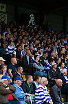 Yeovil Town 0 Queens Park Rangers 1, 21/09/2013. Huish Park, Championship. QPR fans with a Harry Redknapp banner. Photo by Paul Thompson.