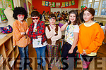 Jack O'Sullivan, Justin O'Halloran, Fabine Horvath, Bianca Qatja and Chloe Mason ready for the stage at their Christmas Play in Scoil Eoin Balloonagh on Monday.