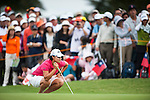 TAOYUAN, TAIWAN - OCTOBER 28:  Yani Tseng of Taiwan lines up a putt on the 2nd green during the day four of the Sunrise LPGA Taiwan Championship at the Sunrise Golf Course on October 28, 2012 in Taoyuan, Taiwan.  Photo by Victor Fraile / The Power of Sport Images