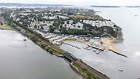 BNPS.co.uk (01202) 558833. <br /> Pic: BNPS<br /> <br /> Pictured: Rockley Point in Poole Harbour, Dorset. <br /> <br /> There are fresh calls for a holiday park to increase safety measures at a notorious beach where one swimmer has drowned and almost 20 children rescued this summer. <br /> <br /> In the latest incident a dad and his two young sons were plucked to safety in the nick of time after they were swept away by a rip tide at Rockley Park in Poole Harbour, Dorset.<br /> <br /> It happened a month after hero swimmer Callum Baker-Osborne, 18, drowned while helping to rescue 13 children at the same spot.<br /> <br /> And before that two young girls were saved from drowning by a paddleboarder.