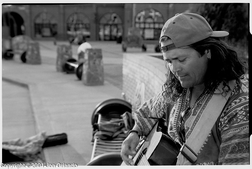 Street Musician in Flagstaff, Arizona.<br />