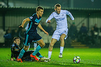 Monday  19 December 2014<br /> Pictured: Oliver McBernie of Swansea City  in action <br /> Re: Swansea City U23 v Middlesbrough u23 at the Landore Training Facility, Swansea, Wales, UK