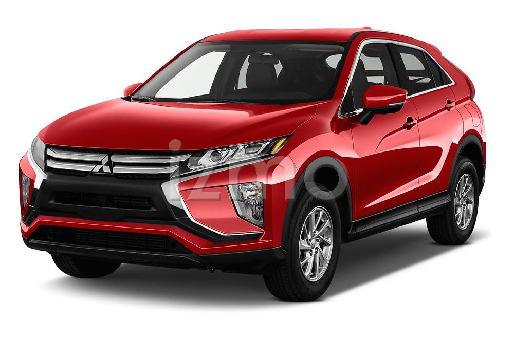 2018 Mitsubishi Eclipse Cross ES 2WD 5 Door SUV angular front stock photos of front three quarter view
