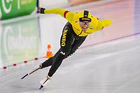 28th December 2020; Thialf Ice Stadium, Heerenveen, Netherlands; World Championship Speed Skating; 1000m men, Dai Dai Ntab during the WKKT