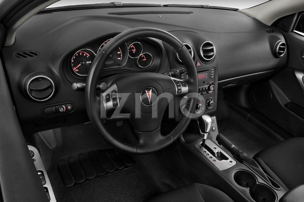 High angle dashboard view of a 2008 Pontiac G6 Sedan GT