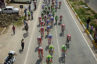 Team Wanty-Groupe Gobert in the pack<br /> <br /> Tour of Turkey 2014<br /> stage 6