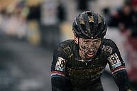 Lars van der Haar (NED/Telenet Fidea Lions) finishing<br /> <br /> Elite Men's race<br /> Superprestige Gavere / Belgium 2017