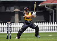 Wellington's Amelia Kerr bats during the women's Dream11 Super Smash cricket match between the Wellington Blaze and Auckland Hearts at Basin Reserve in Wellington, New Zealand on Thursday , 24 December 2020. Photo: Dave Lintott / lintottphoto.co.nz