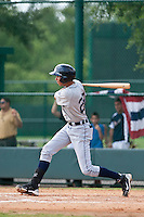 Edwin Gomez of the Gulf Coast League Tigers during the game against the Gulf Coast League Braves July 3 2010 at the Disney Wide World of Sports in Orlando, Florida.  Photo By Scott Jontes/Four Seam Images